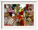 Female Street Performers Dressed in Different Costumes Framed Photographic Print by Wong Maye-e