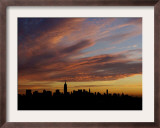 The Empire State Building is the Focal Point of the New York Skyline at Sunrise Framed Photographic Print
