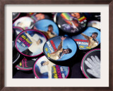 Michael Jackson Buttons Sold at Viewing of His Memorial near Apollo Theatre, July 7, 2009 Framed Photographic Print