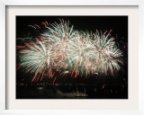 Fireworks Light Up the Night Sky after the Opening Ceremony for the Vancouver 2010 Olympics Framed Photographic Print