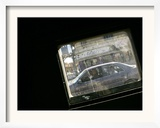 Seen Through the Bulletproof Window of a U.S. Humvee, Iraqis Smile from Their Car Framed Photographic Print