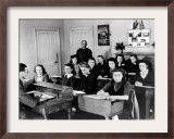 Polish Women are Shown in a Classroom at the Marie Curie School for Girls in Scotland Framed Photographic Print