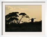 Masai Man, Amboseli Wildlife Reserve, Kenya Framed Photographic Print by Vadim Ghirda