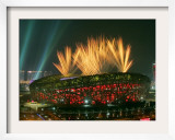 Beijing Olympics Opening Ceremony, Bird's Nest, Beijing, China Framed Photographic Print