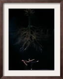 Dancers from the Dutch Dance Theatre Perform During Dress Rehearsal in the Bulgarian Capital Sofia Framed Photographic Print