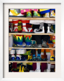 Group Photo of Clowns' Shoes at a Week Long Latin American Clown Convention in Mexico City Framed Photographic Print