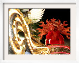 A Costa Rican Dressed as a Sun God Framed Photographic Print by Kent Gilbert