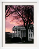 The Early Morning Sunrise Warms the Sky Over the White House Framed Photographic Print by Ron Edmonds