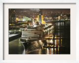 The Queen Elizabeth II Prepares to Dock at the Port of New Orleans, Mississippi River, c.2006 Framed Photographic Print by Alex Brandon