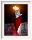 Beijing Olympics Opening Ceremony, Olympic Torch Burning, Beijing, China Framed Photographic Print