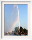 A Rainbow is Seen Behind Alster Lake in Downtown Hamburg, Northern Germany, September 12, 2006 Framed Photographic Print by Fabian Bimmer