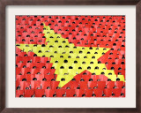 Vietnamese Students Flip Colored Placards Framed Photographic Print