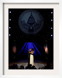 President Obama and First Lady Michelle Obama Dance, Neighborhood Inaugural Ball, January 20, 2009 Framed Photographic Print