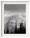 Emmons Glacier Reflects a Bit of Sunlight as Clouds Cover the Summit of Mount Rainier Framed Photographic Print by John Froschauer
