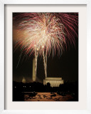 Fireworks Over the Capitol, the Washington Monument, and the Lincoln Memorial Framed Photographic Print