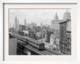 Third Avenue EL, New York, New York Framed Photographic Print by John Lindsay