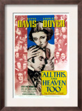 All This and Heaven Too, Bette Davis, Charles Boyer, 1940 Print