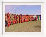 Somali Women in Colorful Dress Come out to Support the Transitional Federal Government Framed Photographic Print