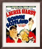 Bonnie Scotland, Oliver Hardy, June Lang, Stan Laurel on Window Card, 1935 Prints
