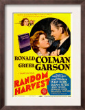Random Harvest, Greer Garson, Ronald Colman on Midget Window Card, 1942 Posters