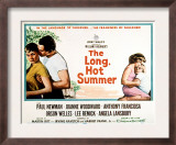 The Long, Hot Summer, Joanne Woodward, Paul Newman, Lee Remick, Anthony Franciosa, 1958 Print
