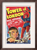 Tower of London, Basil Rathbone, Boris Karloff, 1939 Poster