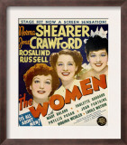 The Women, Joan Crawford, Norma Shearer, Rosalind Russell on Window Card, 1939 Poster