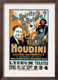 Houdini, Poster Art for Magic Show by Harry Houdini, 1909 Posters