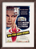 Bad for Each Other, Charlton Heston, Lizabeth Scott, 1953 Prints
