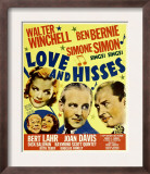 Love and Hisses, Simone Simon, Walter Winchell, Ben Bernie, 1937 Prints