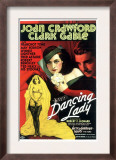 Dancing Lady, Joan Crawford, Clark Gable, 1933 Poster
