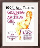 Glorifying the American Girl, Mary Eaton on Window Card, 1929 Posters
