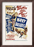 Navy Blues, Ann Sheridan, Jack Haley, Jack Oakie, Martha Raye on Midget Window Card, 1941 Art