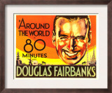 Around the World in 80 Minutes, Douglas Fairbanks, 1931 Poster