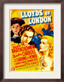 Lloyds of London, Freddie Bartholomew, Tyrone Power, Madeleine Carroll on Midget Window Card, 1936 Prints
