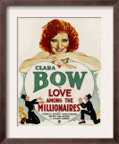 Love Among the Millionaires, Clara Bow on Window Card, 1930 Prints