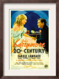 Twentieth Century (Aka 20th Century), Carole Lombard, John Barrymore on Midget Window Card, 1934 Posters