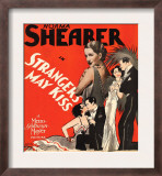 Strangers May Kiss, Norma Shearer on Window Card, 1931 Art