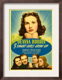 Three Smart Girls Grow Up, Deanna Durbin, Helen Parrish, William Lundigan, 1939 Art
