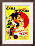 San Francisco, Jeanette Macdonald, Clark Gable, Jeanette Macdonald on Midget Window Card, 1936 Posters