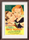Brief Moment, Gene Raymond, Carole Lombard on Midget Window Card, 1933 Art