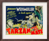 Tarzan and His Mate, Maureen O'sullivan, Johnny Weissmuller, 1934 Posters