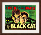 The Black Cat, Boris Karloff, Bela Lugosi, 1934 Art