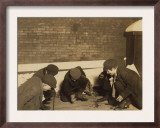 Playing Craps in the Jail Alley, Albany, New York, c.1910 Posters by Lewis Wickes Hine
