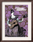 Victorian Woman Playing Guitar Prints