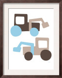 Brown Tractors Print by  Avalisa