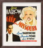 Girl from Missouri, Franchot Tone, Jean Harlow on Window Card, 1934 Posters