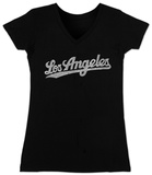 Juniors: V-Neck- Los Angeles Neighborhoods T-Shirts