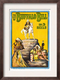 Life of Buffalo Bill, Early Documentary of the Legendary Westerner, 1912 Print