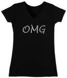 Juniors: V-Neck- OMG T-Shirt